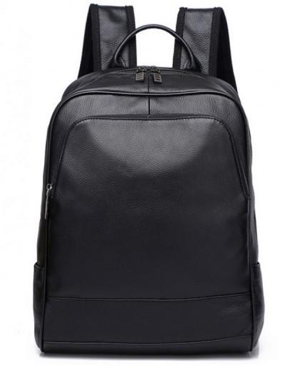 Фотография Рюкзак мужской кожаный черный Tiding Bag A25F-11685A