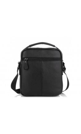 Мужская черная небольшая кожаная сумка на плечо Tiding Bag A25F-2217A