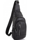 Фотография Слинг черный кожаный мужской Tiding Bag A25F-5605A