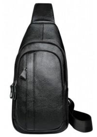 Черный мужской слинг Tiding Bag A25F-6601A