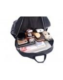 Фотография Кожаный черный рюкзак A25F-68001A