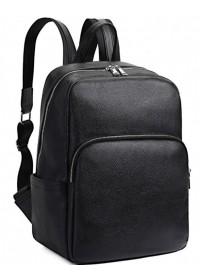 Кожаный черный рюкзак A25F-68001A