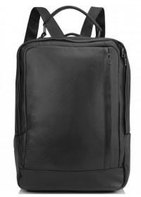 Черный городской кожаный рюкзак Vintage A25F-8834A