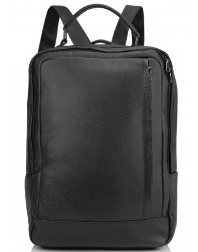 Фотография Черный городской кожаный рюкзак Vintage A25F-8834A