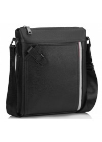 Кожаная черная мужская сумка на плечо A25F-8867A