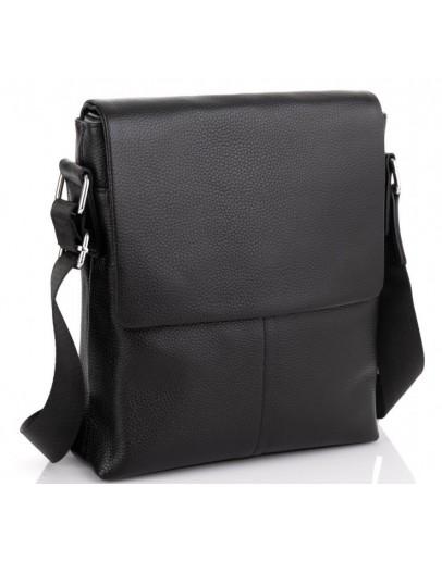 Фотография Мужская черная кожаная сумка плечевая A25F-8870A