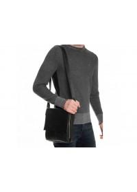 Мужской черный кожаный мессенджер Tiding Bag A25F-8877A
