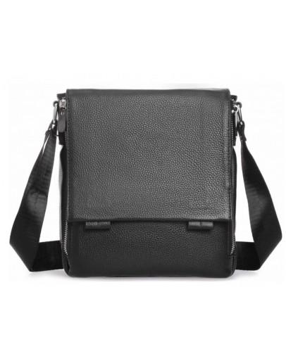Фотография Мужской черный кожаный мессенджер Tiding Bag A25F-8877A