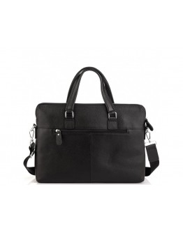 Мужская черная кожаная сумка для ноутбука Tiding Bag A25F-9157-1A