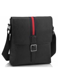 Черная сумка на плечо мужская кожаная A25F-98085A