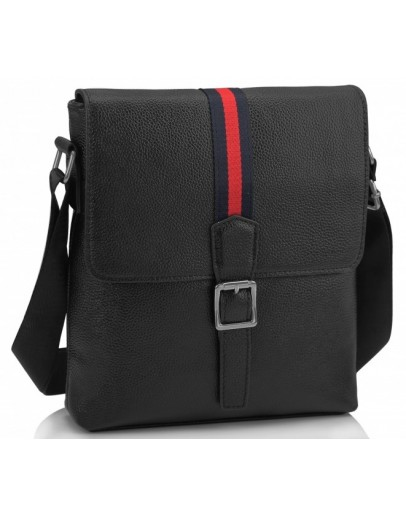 Фотография Черная сумка на плечо мужская кожаная A25F-98085A
