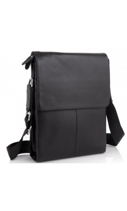 Черная кожаная сумка через плечо A25F-9906A