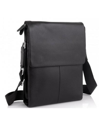 Фотография Черная кожаная сумка через плечо A25F-9906A