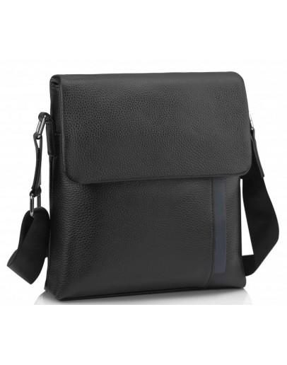 Фотография Черная мужская кожаная сумка на плечо A25F-9913A