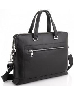 Черная мужская кожаная сумка для документов Tiding Bag A25F-9916-1A