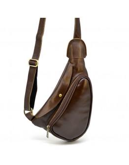 Коричневая сумка на плечо-мужской слинг Tarwa AC-3026-3md