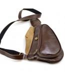 Фотография Коричневая сумка на плечо-мужской слинг Tarwa AC-3026-3md