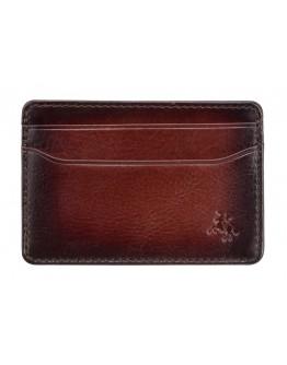 Кожаный фирменный картхолдер Visconti AT54 Evan (Burnish Tan)