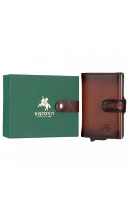 Мужской кожаный кошелек - картхолдер Visconti AT57 Noah c RFID (Burnish Tan)