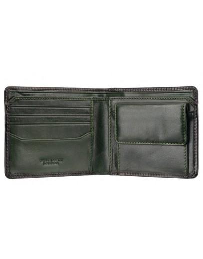 Фотография Кожаный зеленый кожаный кошелек AT60 Arthur c RFID (Burnish Green)