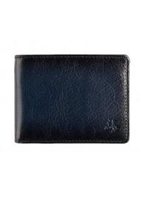 Синее кожаное мужское портмоне Visconti AT63 Roland c RFID (Burnish Blue)