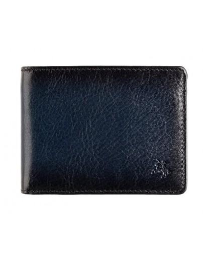 Фотография Синее кожаное мужское портмоне Visconti AT63 Roland c RFID (Burnish Blue)