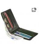 Фотография Зеленое кожаное мужское портмоне AT63 Roland c RFID (Burnish Green)