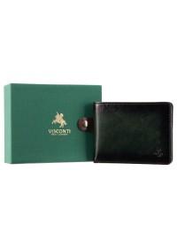 Зеленое кожаное мужское портмоне AT63 Roland c RFID (Burnish Green)