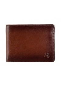 Коричневое кожаное мужское портмоне Visconti AT63 Roland c RFID (Burnish Tan)