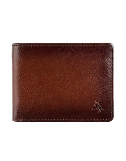 Фотография Коричневое кожаное мужское портмоне Visconti AT63 Roland c RFID (Burnish Tan)