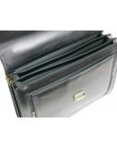 Фотография Кожаный мужской классический чёрный портфель AWR 1