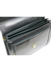 Кожаный мужской классический чёрный портфель AWR 1