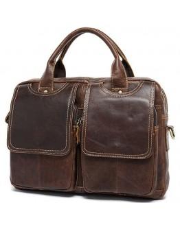 Мужская кожаная коричневая сумка для документов B10-8002
