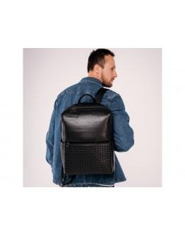 Черный кожаный мужской рюкзак Tiding Bag B3-157A