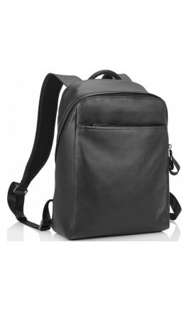 Мужской черный кожаный рюкзак Tiding Bag B3-1663A-11NM