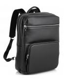 Фотография Черный кожаный рюкзак Tiding Bag B3-185A