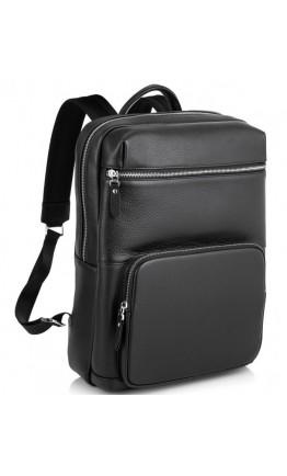Черный кожаный рюкзак Tiding Bag B3-185A