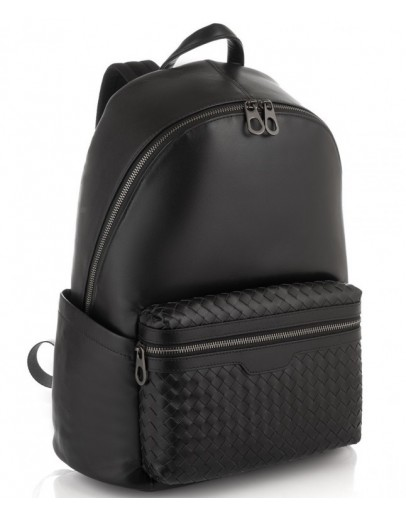 Фотография Черный мужской кожаный рюкзак Tiding Bag B3-8608A