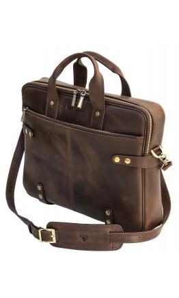 Винтажная коричневая деовая сумка Black Diamond BD8Ccrh