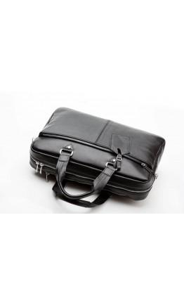 Добротная черная кожаная сумка Blamont Bn001A