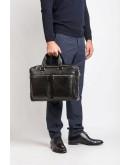 Фотография Добротная черная кожаная сумка Blamont Bn001A