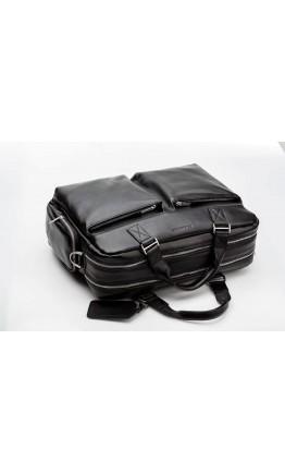 Чёрная мужская сумка из натуральной кожи Blamont Bn002A