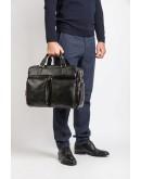 Фотография Чёрная мужская сумка из натуральной кожи Blamont Bn002A