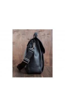 Стильный чёрный кожаный портфель Blamont Bn017A