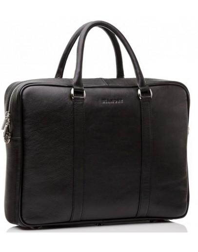 Фотография Классическая кожаная сумка портфель чёрный Blamont Bn022A