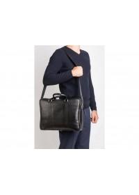 Классическая кожаная сумка портфель чёрный Blamont Bn022A