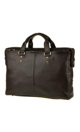 Кожаная мужская добротная коричневая сумка Blamont Bn025c