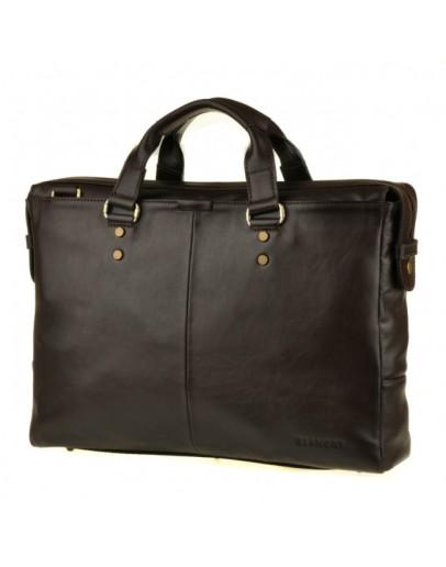 Фотография Кожаная мужская добротная коричневая сумка Blamont Bn025c