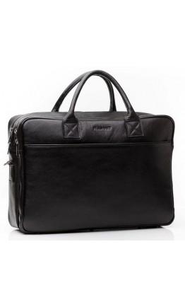 Качественная кожаная мужская чёрная сумка Blamont Bn026A