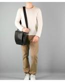 Фотография Чёрная мужская классическая сумка на плечо Blamont bn027a